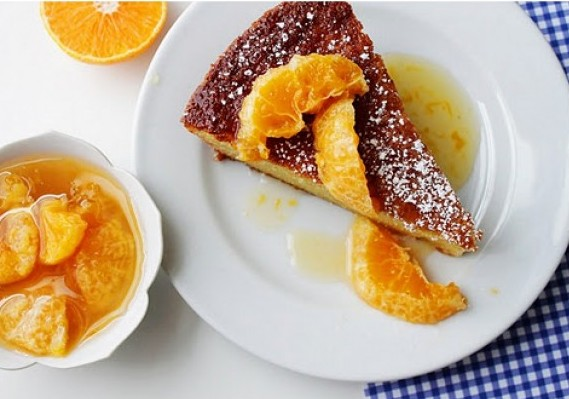 Almond Cake with Clementines