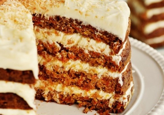 Layer Carrot Cake With Coconut Icing