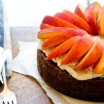 Peach and Ginger Pecan Cake