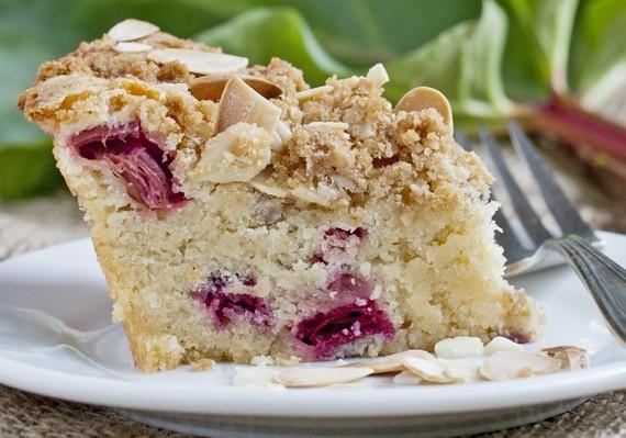 Rhubarb Almond Coffee Cake