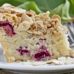Rhubarb Coffee Cake with Almond Crumble Topping