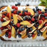 Easy Vanilla Cake with Fruit - a perfect party cake
