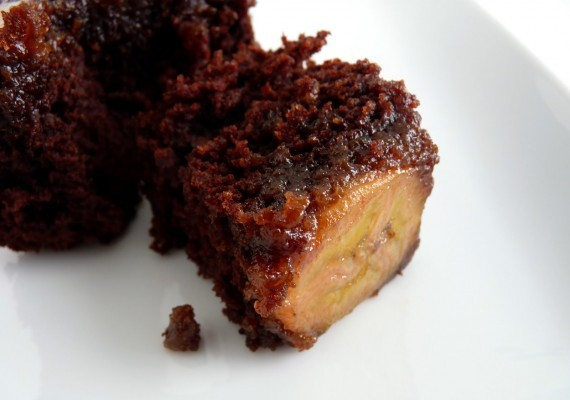 Chocolate Banana Upside Down Cake