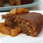 Cinnamon Cake With Pear Compote
