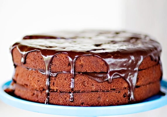 Double-Chocolate Fudge Cake