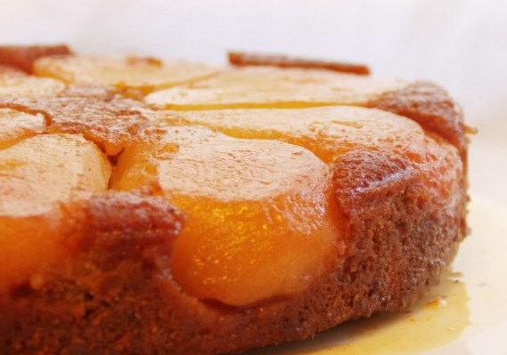 Honey and Orange Upside-Down Pear Cake