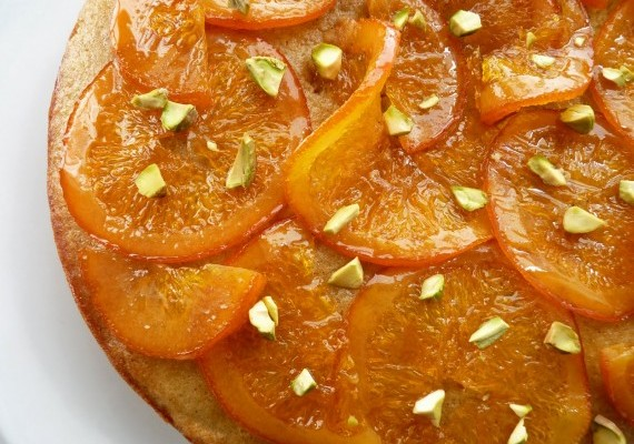 Olive Oil Cake with Candied Oranges • The Answer is Cake