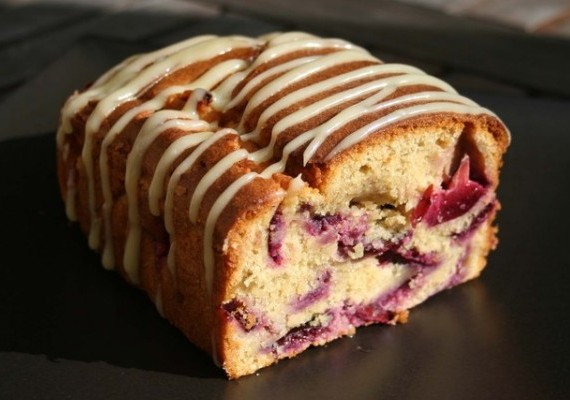 Plum Cake With White Chocolate Frosting The Answer Is Cake