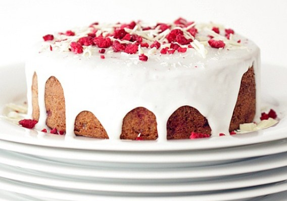 Raspberry Almond Breakfast Cake