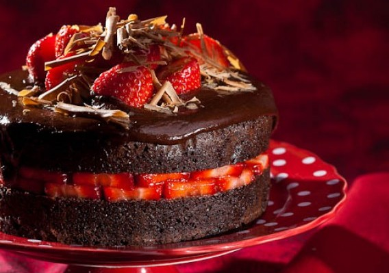 Strawberry Chocolate Devil S Food Cake Recipe The Answer Is Cake