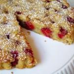 Rustic Raspberry Pistachio Cake