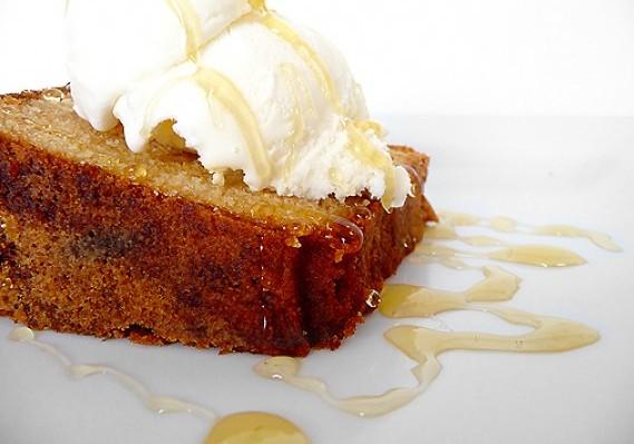 Honey Vanilla Sour Cream Cake