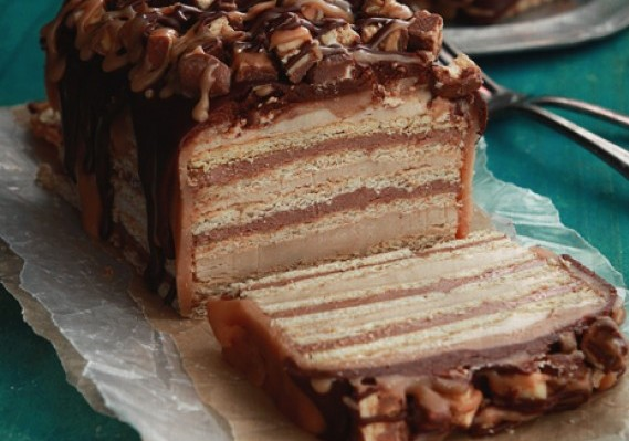 Chocolate Biscuit Cake With Caramel Recipe