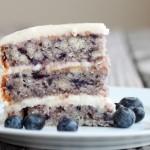 Blueberry Cake with Light Lemon Icing