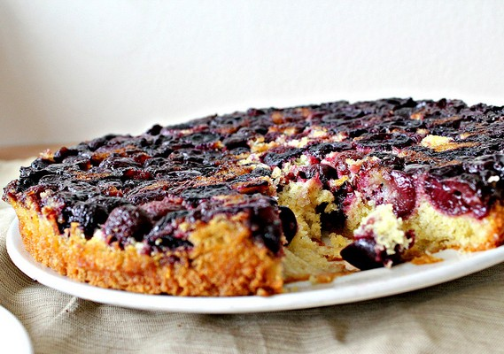Cherry Upside-Down Cake - Recipe - The Answer is Cake