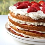 Strawberry and Cream Cake