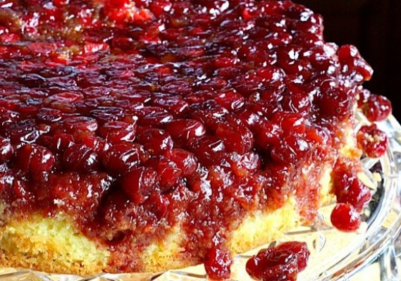 ... Cranberry Upside-down Cake . This is another upside-down cake star
