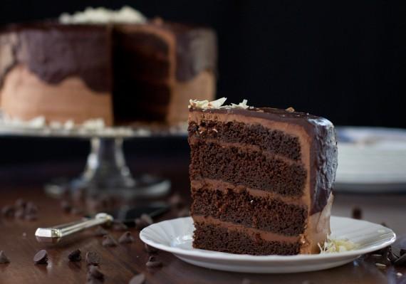 Five Chocolates Chocolate Cake