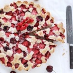 Cherry, Strawberry and Red Currant Cake