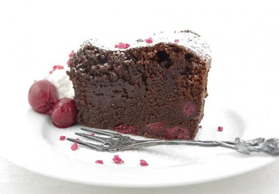 Chocolate Cake with Cherry and Mascarpone Cream