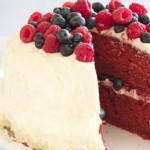 Raspberry and Blueberry Red Velvet Cake