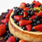 NY Cheesecake Recipe with Glazed Fresh Berries