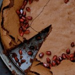 Pomegranate Chocolate Cake