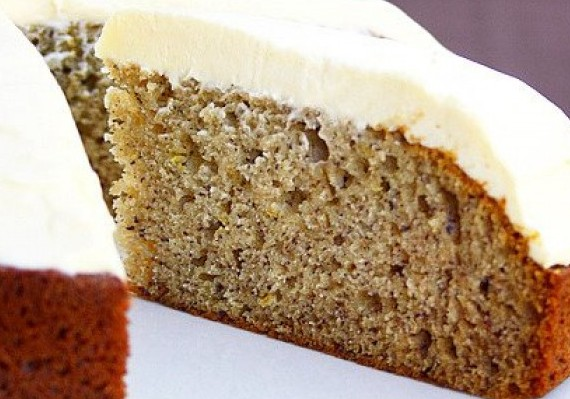 Super Moist Banana Cake With Icing