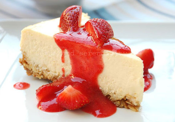 Baked White Chocolate Cheesecake