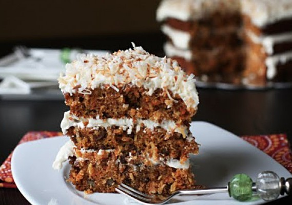 Carrot Cake with Cranberries