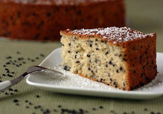 Black Sesame Seed Cake Recipe