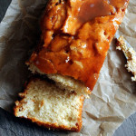Apple Cider Cake with Caramel Glaze
