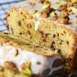 Chocolate Chip Pound Cake with Pistachios
