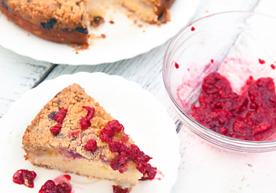 Apple White Chocolate Raspberry Cake