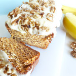 Banana Loaf Cake with Lemon Sour Cream Frosting
