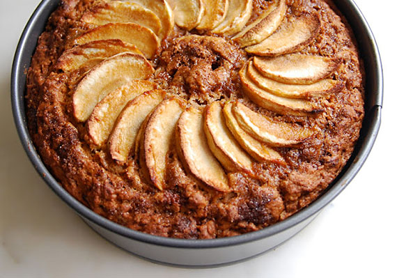 Eggless Apple Cake