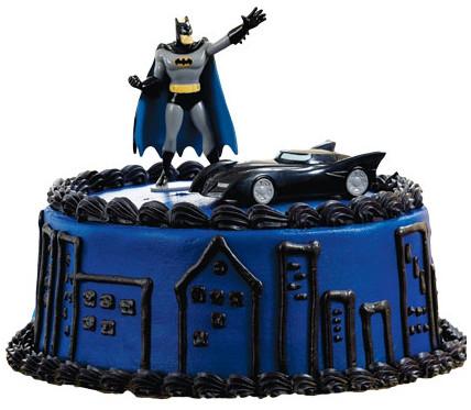 Batman And Batmobile Cake Topper