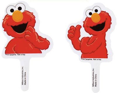 Elmo-Cake-Cupcake-Toppers