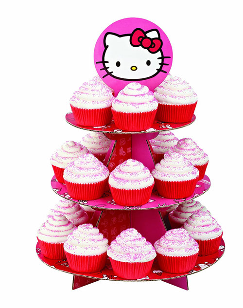 Hello-Kitty-Cupcake-Stand-Cardboard
