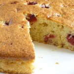 Easy Banana Cake with Raspberries
