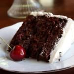 Cherry Chocolate Cake with Italian Meringue Buttercream Frosting