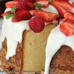 Cream Cheese Pound Cake with Snowy White Glaze