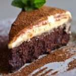 Chocolate Cake with White Chocolate Mousse