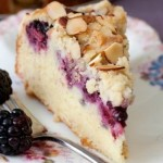 Fresh Blackberry Cake with Sour Cream and Crumble