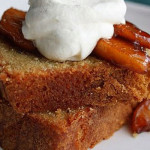 Brown Sugar Pound Cake with Caramelised Apples