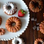 Strawberry and Chocolate Cake - Mini Bundt Cakes