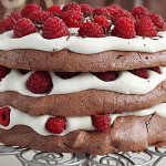 Chocolate Pavlova Recipe - Chocolate Raspberry Pavlova